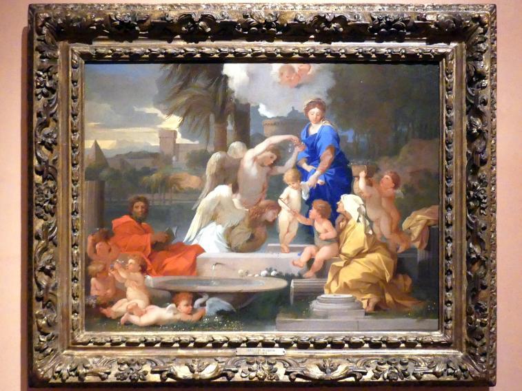 Sébastien Bourdon: Die Heilige Familie mit der Heiligen Elisabeth und dem Johannesknaben, um 1653 - 1657