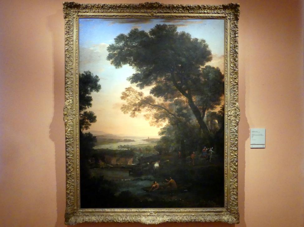 Claude Lorrain (Claude Gellée): Landschaft mit der Flucht nach Ägypten, 1663