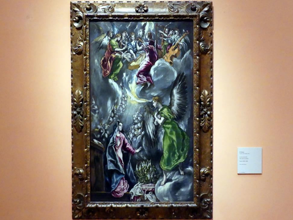 El Greco (Domínikos Theotokópoulos): Mariä Verkündigung, um 1596 - 1600
