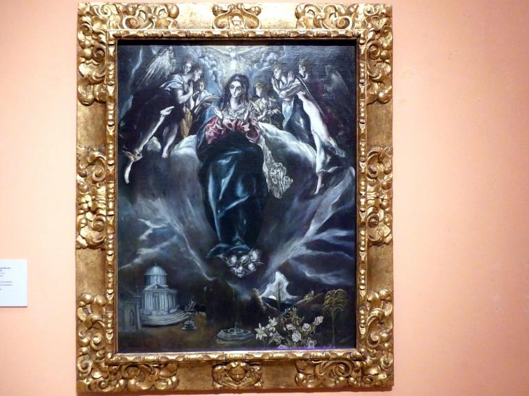 El Greco (Domínikos Theotokópoulos): Unbefleckte Empfängnis, um 1608 - 1614