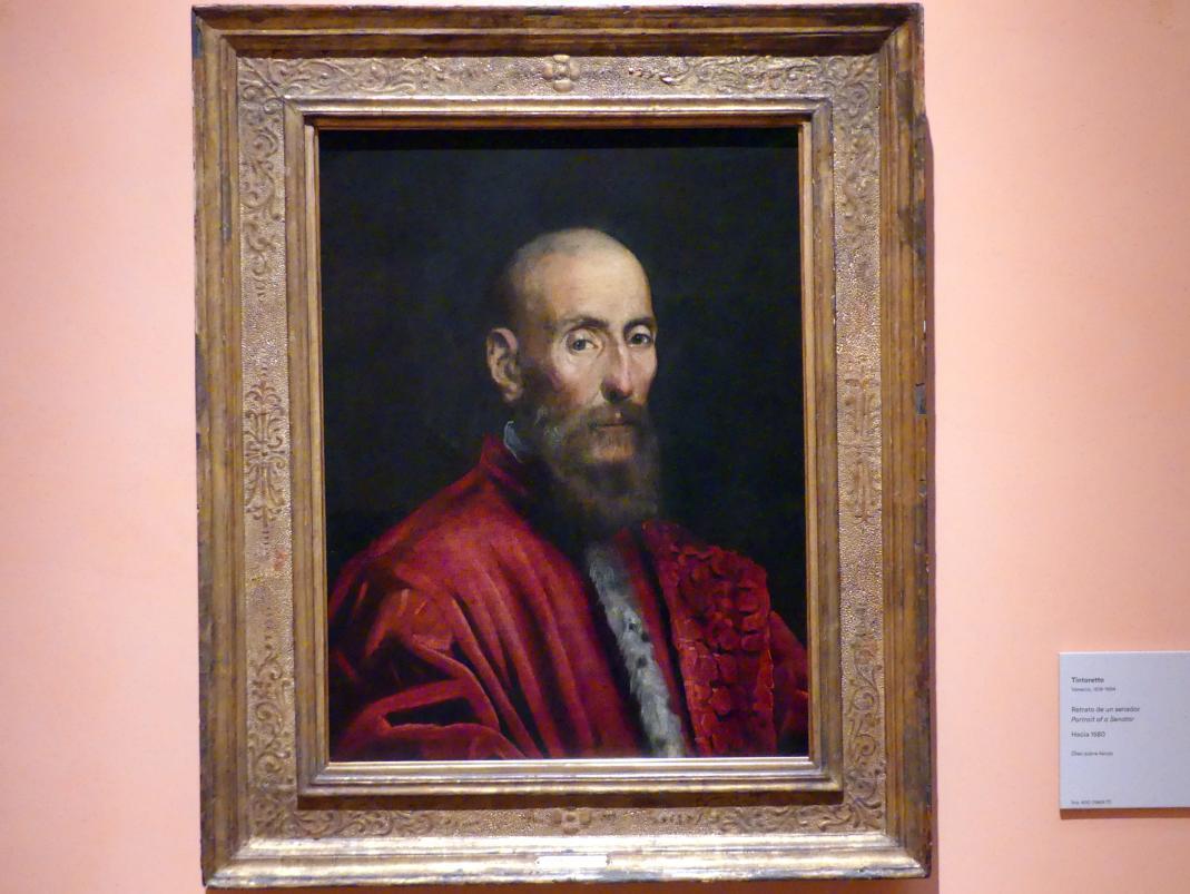 Tintoretto (Jacopo Robusti): Porträt eines Senators, um 1580