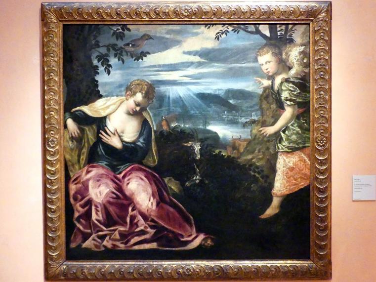 Tintoretto (Jacopo Robusti): Die Verkündigung an Manoachs Frau, um 1555 - 1559