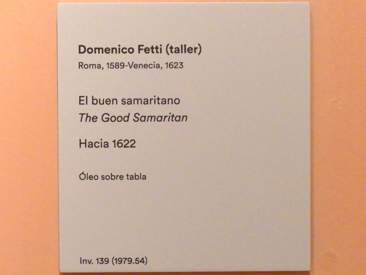 Domenico Fetti (Werkstatt): Der barmherzige Samariter, um 1622