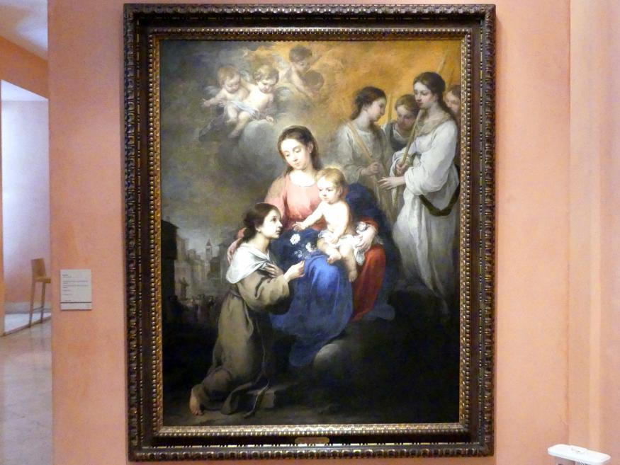Bartolomé Esteban Murillo: Maria mit Kind und der hl. Rosa von Viterbo, Um 1670