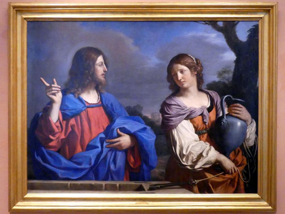 Giovanni Francesco Barbieri (Il Guercino): Jesus und die Samariterin am Brunnen, um 1640 - 1641