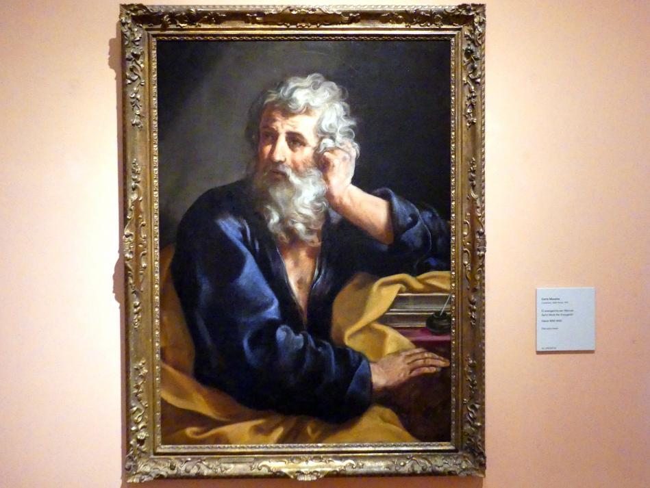 Carlo Maratta: Der Evangelist Markus, um 1655 - 1660