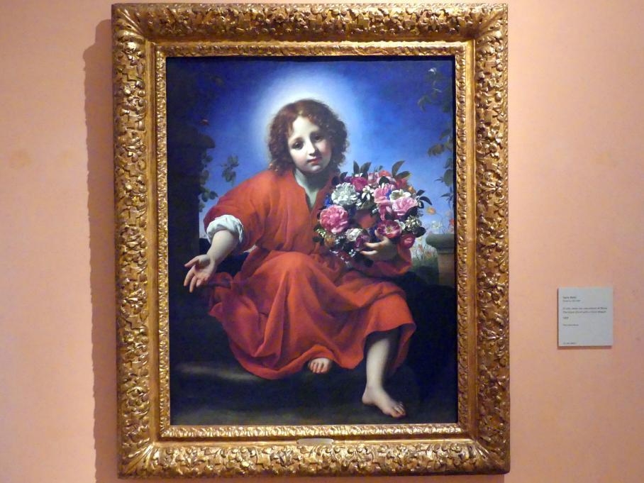 Carlo Dolci: Der Jesusknabe mit einem Blkumenkranz, 1663