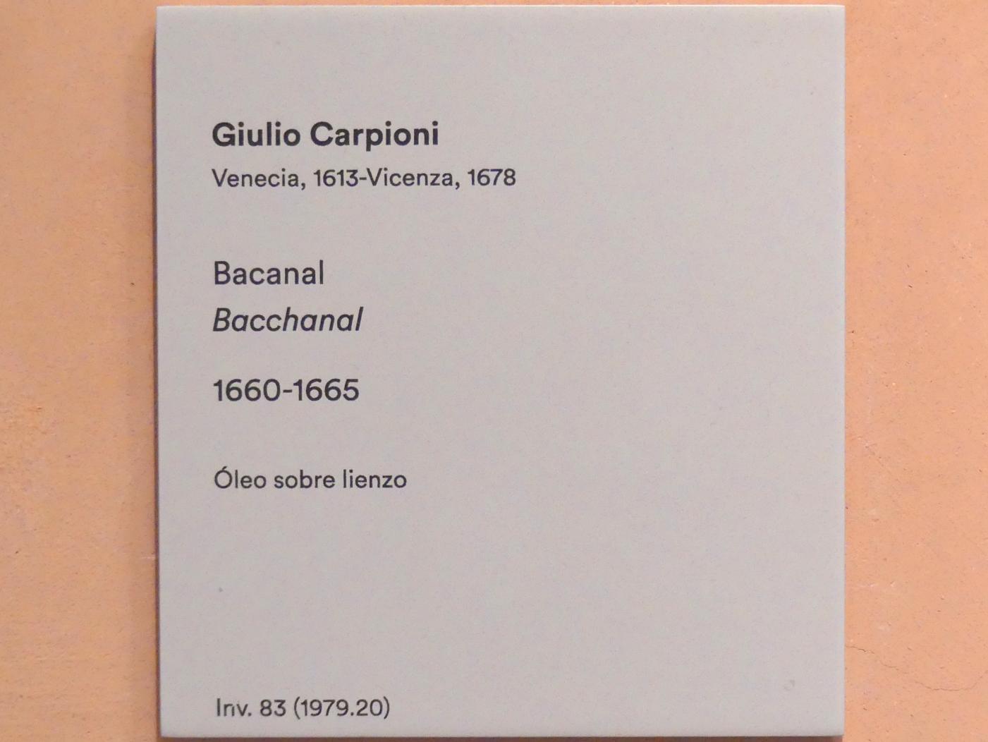 Giulio Carpioni: Bacchusfest, um 1660 - 1665, Bild 2/2