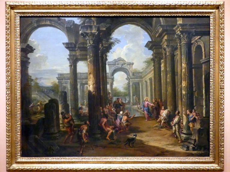 Giovanni Paolo Pannini: Christus heilt einen Kranken am Teich Bethesda, um 1724