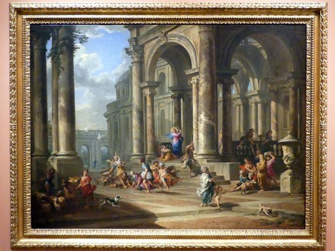 Giovanni Paolo Pannini: Die Vertreibung der Geldwechsler aus dem Tempel, um 1724