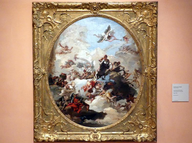 Giovanni Domenico Tiepolo: Die Apotheose des Herkules, Um 1765