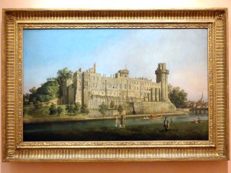 """Giovanni Antonio Canal (""""Canaletto""""): Die Südfassade von Warwick Castle, 1748"""