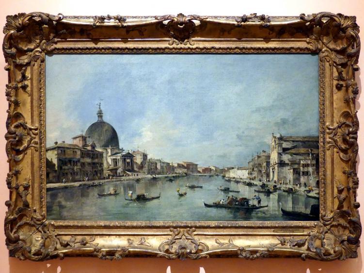 Francesco Guardi: Der Canal Grande mit San Simeone Piccolo und Santa Lucia, um 1780