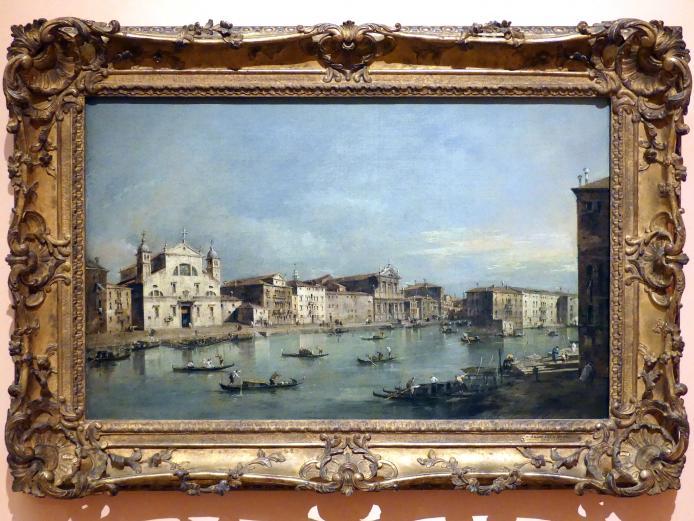 Francesco Guardi: Der Canal Grande mit Santa Lucia und Santa Maria di Nazareth, um 1780