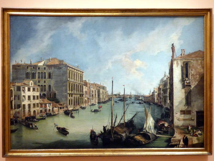 """Giovanni Antonio Canal (""""Canaletto""""): Ansicht des Canal Grande von San Vio (Venedig), um 1723 - 1724"""