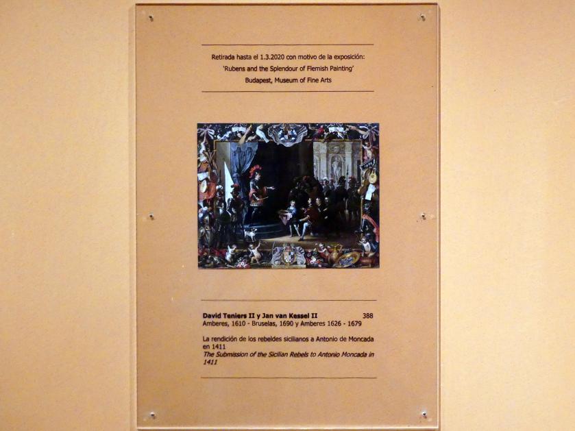 David Teniers der Jüngere: Die Unterwerfung der sizilianischen Rebellen unter Antonio Moncada im Jahr 1411, 1663
