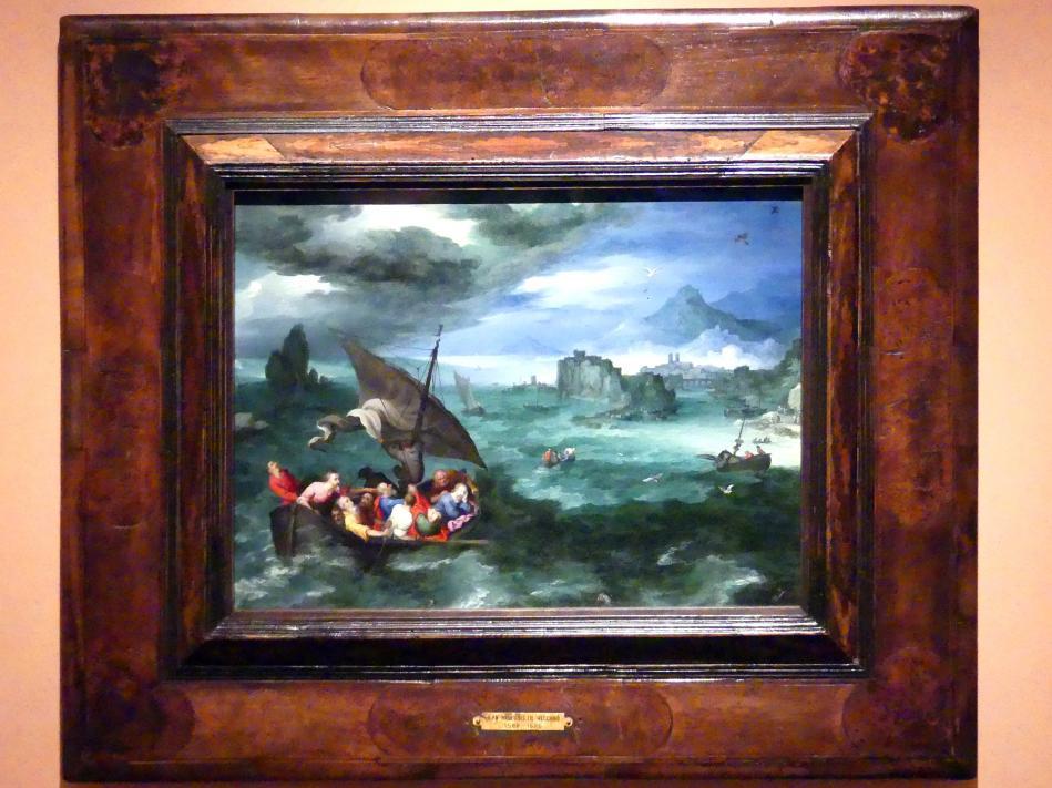 Jan Brueghel der Ältere (Blumenbrueghel): Christus im Sturm auf dem See Genezareth, 1596