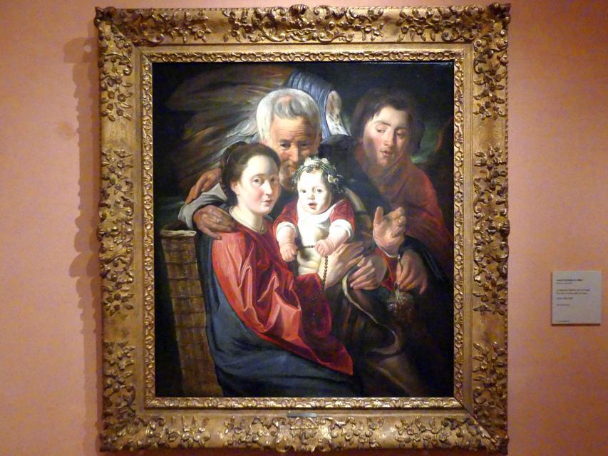 Jacob Jordaens: Die Heilige Familie mit Engel, um 1625 - 1629