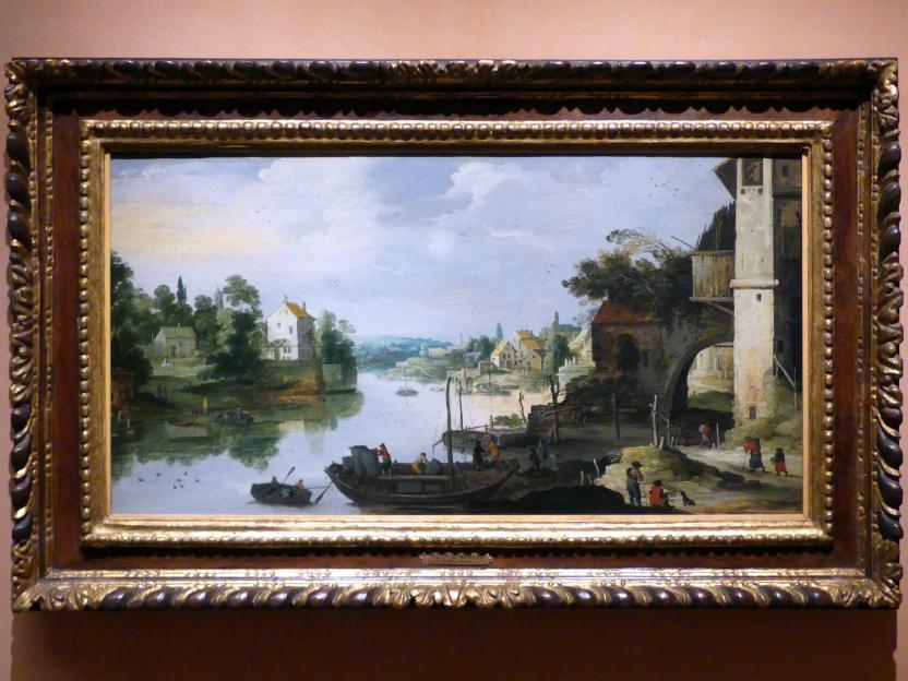 Meister des Monogramms IDM: Blick auf ein Dorf an einem Fluss, Undatiert