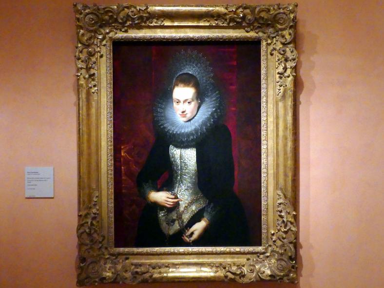 Peter Paul Rubens: Porträt einer jungen Frau mit Rosenkranz, um 1609 - 1610