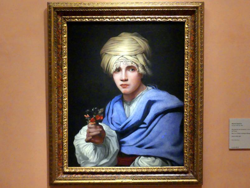 Michiel Sweerts: Junge mit Turban und Blumenstrauß, um 1658 - 1661