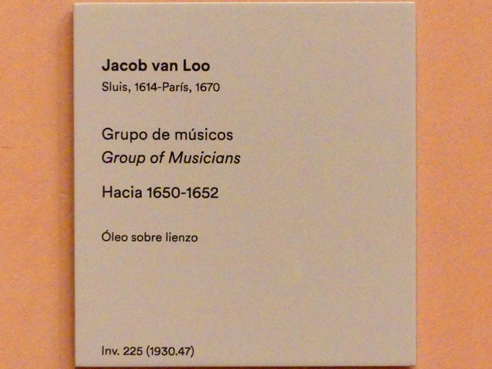 Jacob van Loo: Musikergruppe, um 1650 - 1652, Bild 2/2