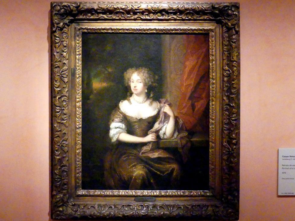 Caspar Netscher: Porträt einer Dame, 1676
