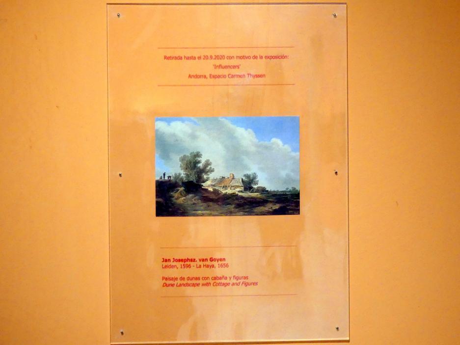 Jan van Goyen: Dünenlandschaft mit Hütte und Figuren, 1629