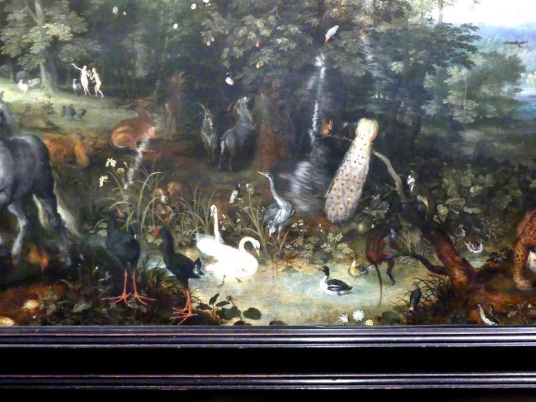 Jan Brueghel der Ältere (Blumenbrueghel): Der Garten Eden, um 1610 - 1612, Bild 3/4