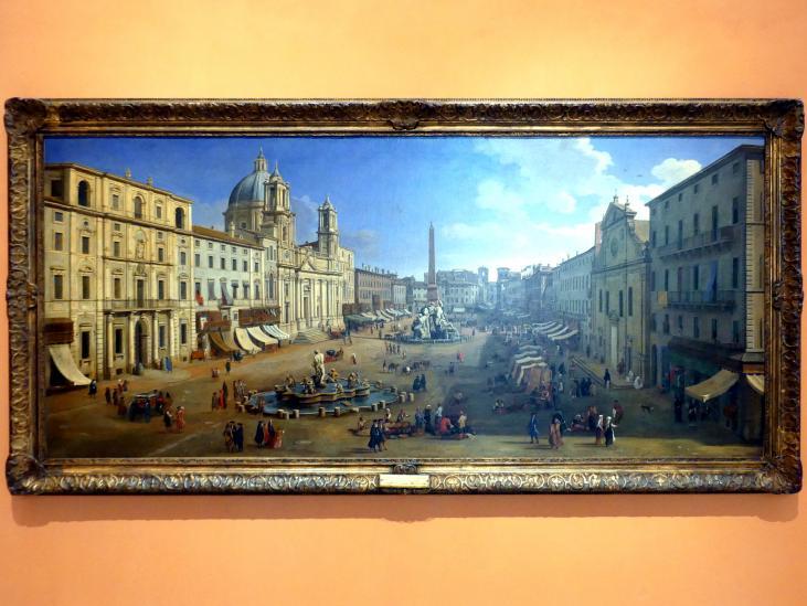 "Caspar Adriaans van Wittel (""Gaspare Vanvitelli""): Piazza Navona in Rom, 1699"