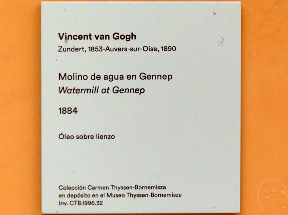 Vincent van Gogh: Wassermühle in Gennep, 1884, Bild 4/4
