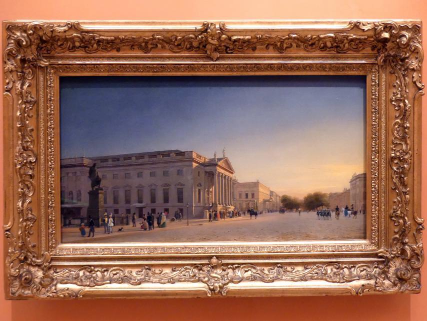 Eduard Gaertner: Blick auf Oper und Unter den Linden, Berlin, 1845