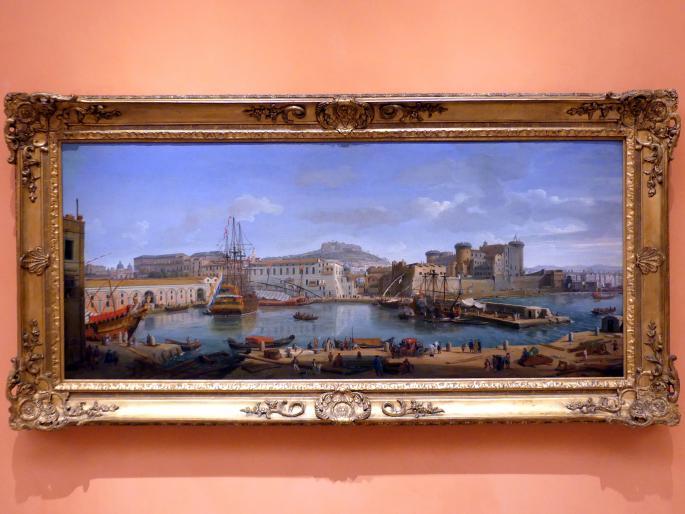 """Caspar Adriaans van Wittel (""""Gaspare Vanvitelli""""): Darsena di Levante, Neapel, um 1700 - 1718"""