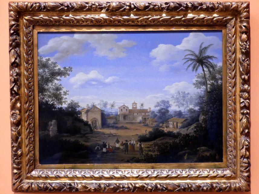Frans Post: Kirche Sankt Cosmas und Damian und das Franziskanerkloster in Igarassu, um 1663