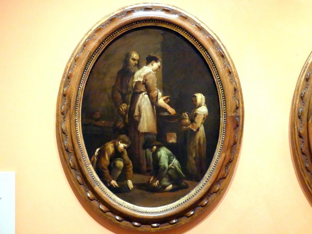 Giuseppe Maria Crespi (Spagnuolo): Interieur mit einer Bauernfamilie, um 1709