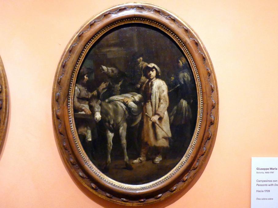 Giuseppe Maria Crespi (Spagnuolo): Bauern mit Eseln, Um 1709