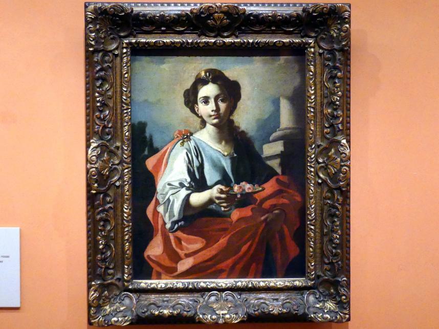 Giacomo Cestaro: Heilige hält einen Teller mit Rosen, Undatiert