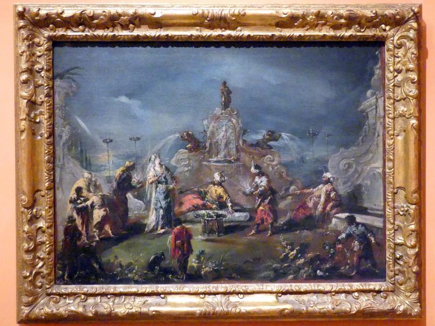 Giovanni Antonio Guardi: Szene im Garten eines Serails, um 1743