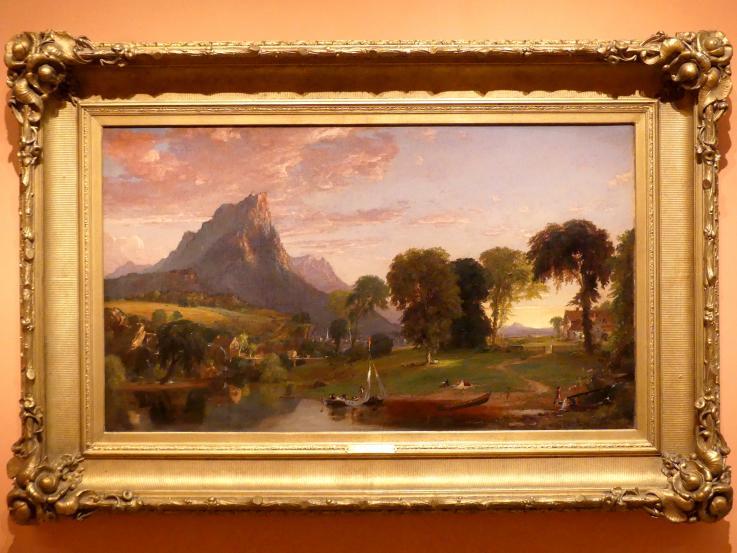 Jasper Francis Cropsey: Ansicht bei Sherburne, Chenango County, New York, 1853