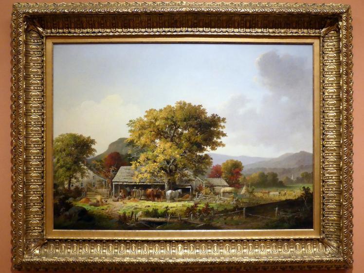 George Henry Durrie: Herbst in New England, Apfelweinherstellung, 1863