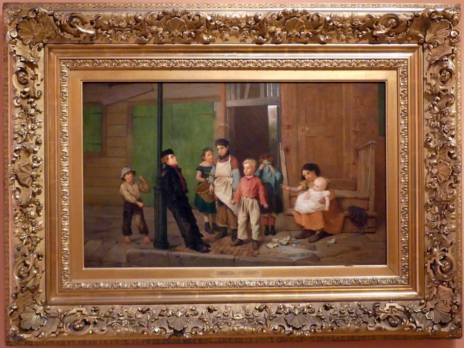 John George Brown: Der Raufbold aus der Nachbarschaft, 1866