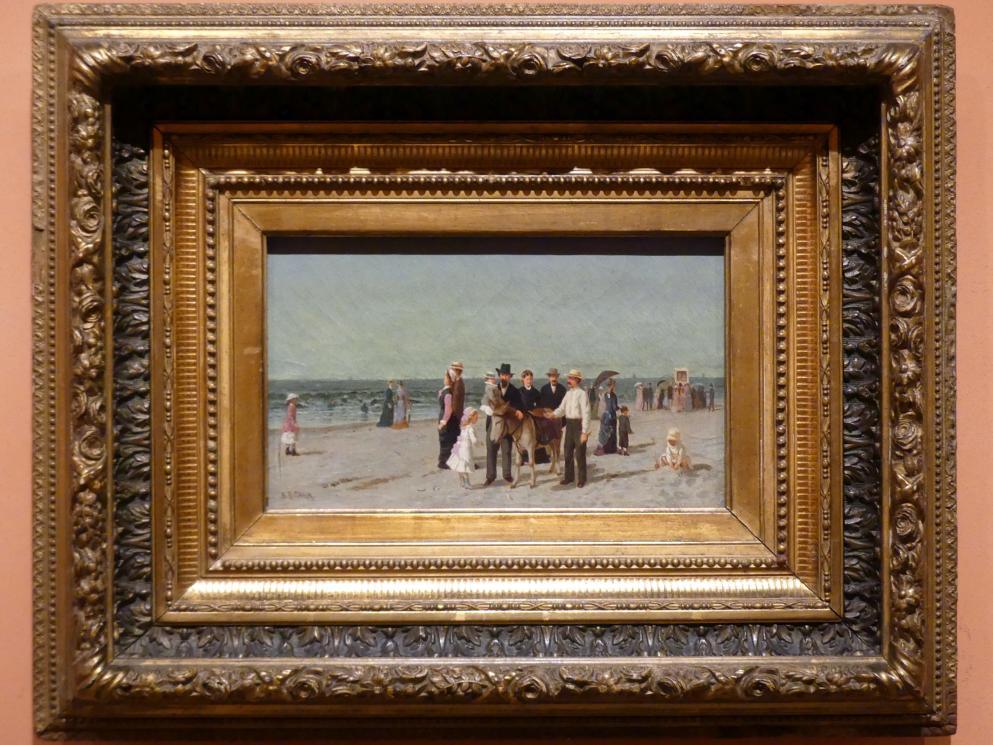 Samuel S. Carr: Strandszene mit Puppentheater, um 1880