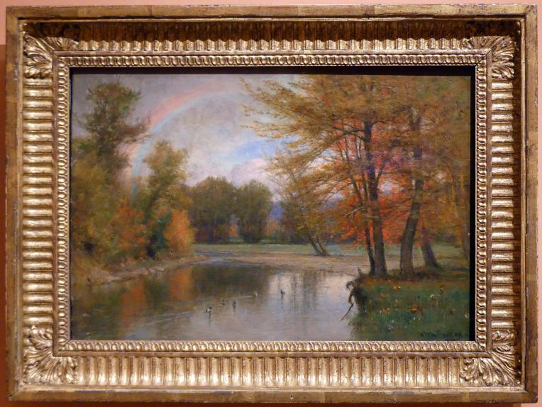 Worthington Whittredge: Regenbogen, Herbst, Catskill Mountains, Um 1880 - 1890