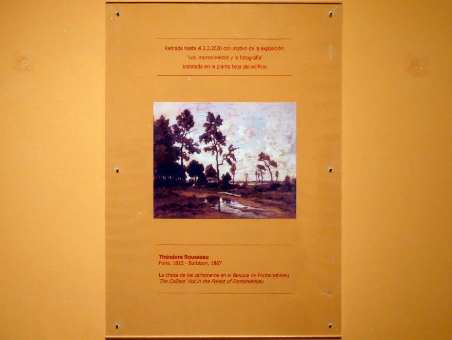 Théodore Rousseau: Die Colliers-Hütte im Wald von Fontainebleau, um 1855
