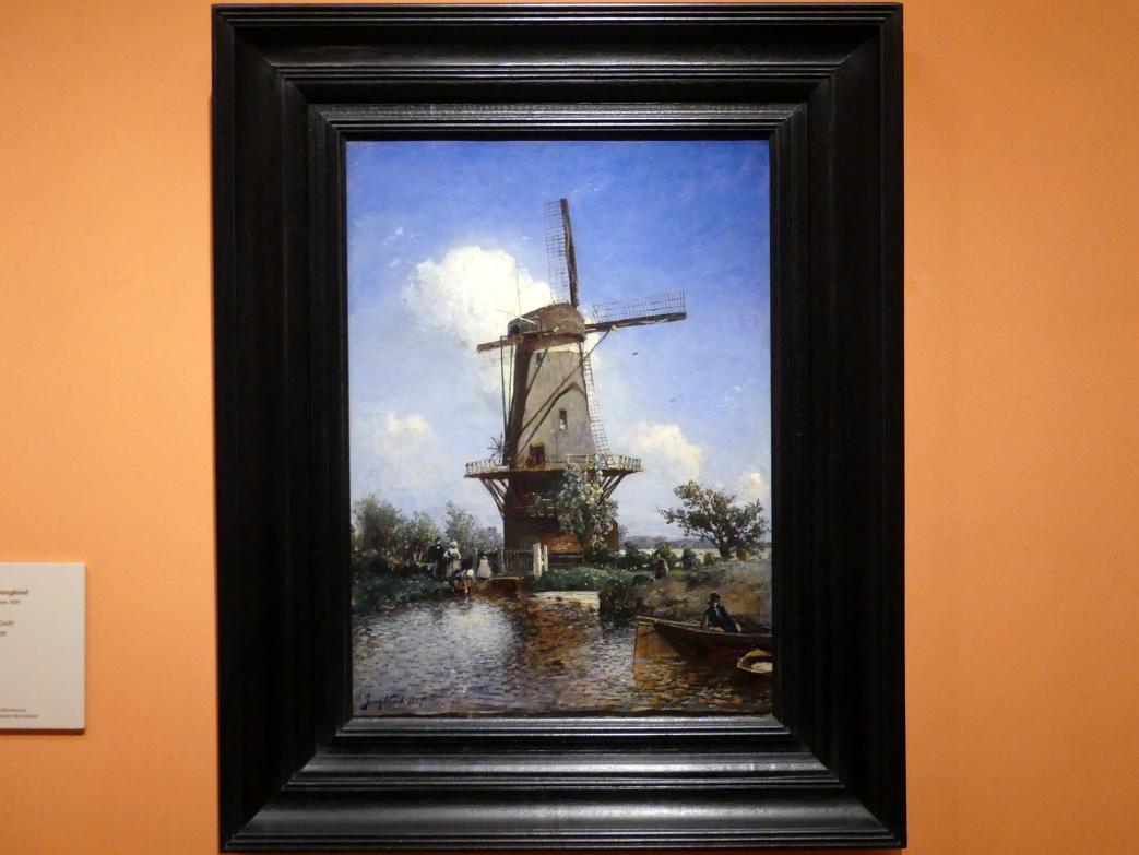 Johan Barthold Jongkind: Windmühle bei Delft, 1857