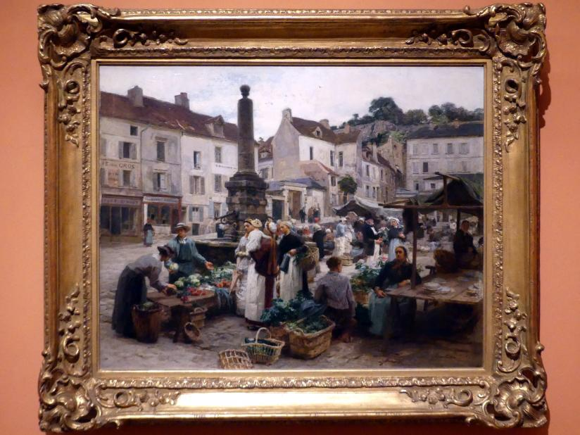 Léon Augustin Lhermitte: Der Markt bei Château-Thierry, 1879