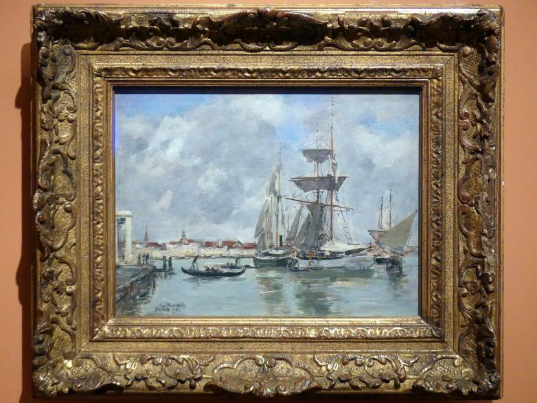 Eugène Boudin: Venedig, Canal Grande, 1895