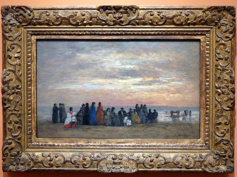 Eugène Boudin: Figuren am Strand von Trouville, 1869