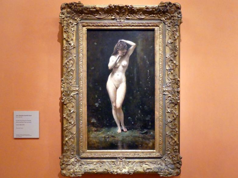 Jean-Baptiste Camille Corot: Die badende Diana (Der Springbrunnen), um 1869 - 1870