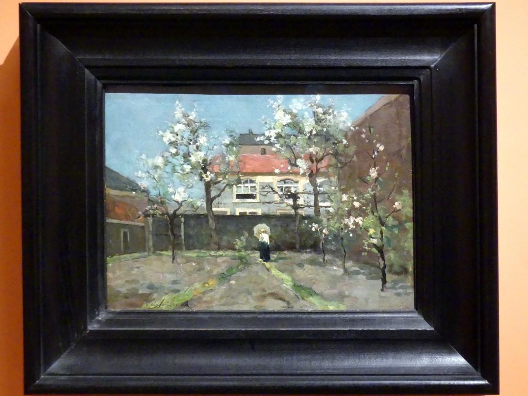 Johan Hendrik Weissenbruch: Hausgarten an der Kazernestraat, Den Haag, um 1890
